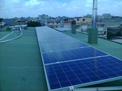 Impianto fotovoltaico con moduli policristallini
