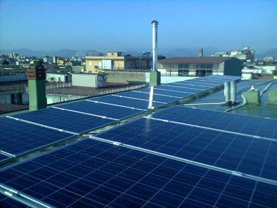 Impianto solare fotovoltaico per autoproduzione di energia