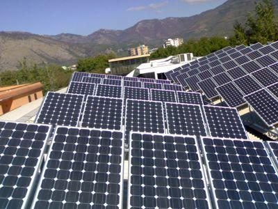 Impianto solare fotovoltaico industriale