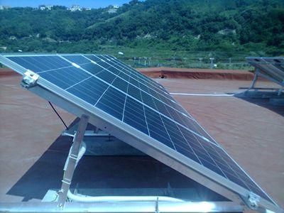Impianto fotovoltaico residenziale tetto piano