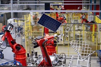 Impianto Automazione industruale per la produzione di moduli fotovoltaici