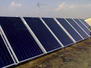grandi impianti solari e pannelli solari a circolazione forzata