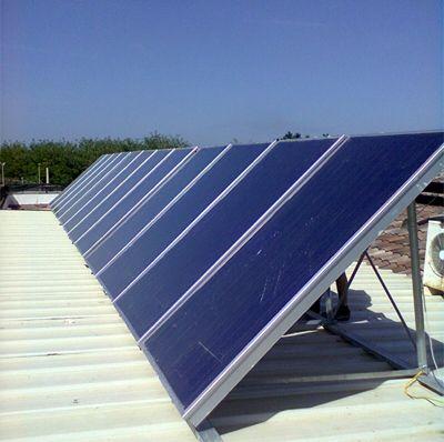 costruzione di grandi impianti solari termici