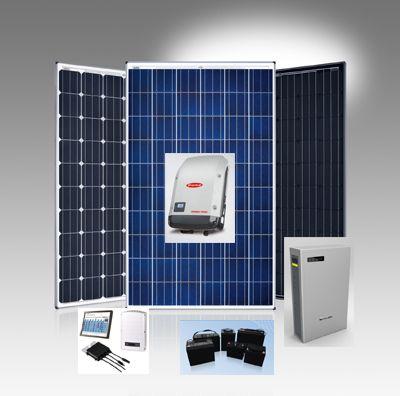 Componenti per fotovoltaico: impianti solari fotovoltaici, pannelli fotovoltaici e moduli fotovoltaici, inverter, accumulatori energia